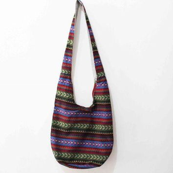 LMFON1O Day First Vintage Shoulder Bag Aztec Hippie Hippy Gypsy Boho Tribal Big Oversized Woven Hobo Sling Crossbody Bag