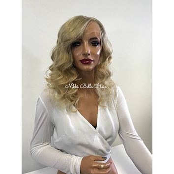 Blonde HUMAN HAIR Full Lace Wig - Pamela