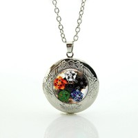 New Arrival stars Wicca Pendant Necklace Occult Pentagram charms Wiccan Jewelry glass yin yang Tao tai chi locket necklace N777
