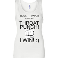 Rock Paper Scissors Throat Punch Tank Top