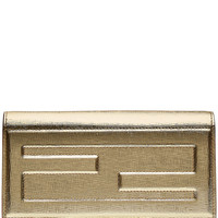 Fendi - Metallic Leather Clutch