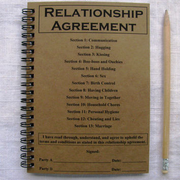 Relationship Agreement - 5 x 7 journal