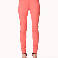 Colored Five-Pocket Skinny Jeans
