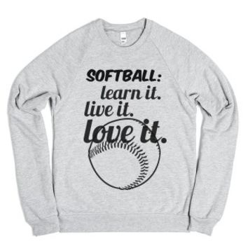 softball-Unisex Heather Grey Sweatshirt