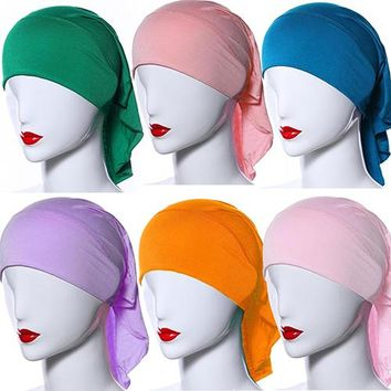 Women's Islamic Muslim Soft Modal High Elasticity Islamic Hijab Scarf Headwear