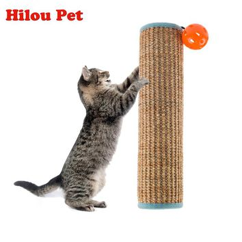 New Natural Sisal Cat Scratching Post Toy for Cats Catnip Tower Climbing Tree Protecting Furniture Foot