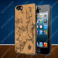 The Lord of the Rings Map case for iPhone 4, 4S, 5, 5S, 5C and Samsung Galaxy s2, s3, s4