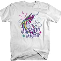 Men's Unicorn Mom T-Shirt Unicorn Mom Shirts Graphic Cute Mommy Me Tee Unicorns Tshirt