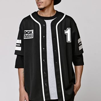 DGK Anti-Hesitator Baseball Jersey - Mens Tee - Black