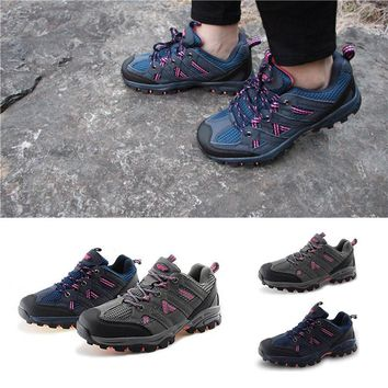 Women Hiking Shoes Outdoor Anti-Slip mountain Climbing Sport Shoes Trekking Sneakers Breathable Lady Athletic Boots