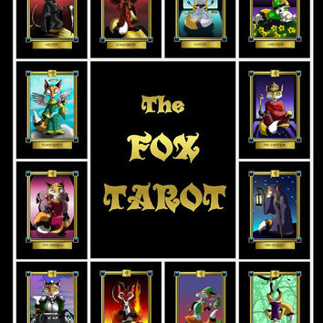 The Fox Tarot Card Deck 78 Card Deck with Box and Booklet Poker Sized Cards