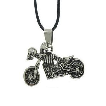 Personality Skull Motorcycle Pendant Necklaces