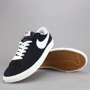 Nike Blazer Low Prm Vntg Women Men Fashion Low-Top Old Skool Shoes-10