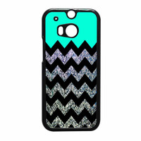 Glitter Print Chevron HTC One M8 Case