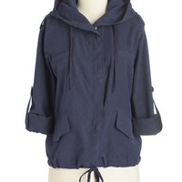 Long Sleeve Versatile Reality Jacket in Navy