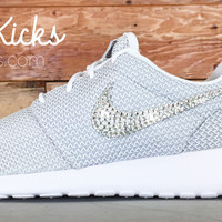 Nike Roshe One Customized by Glitter Kicks - Gray White
