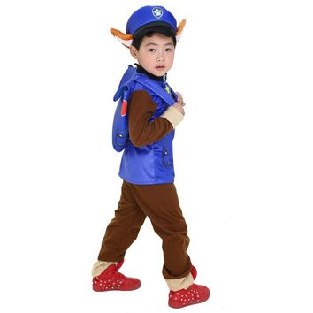 2018 New Kids Carnival Clothing Children Patrol dogs Marshall Chase Skye Cosplay Costume Boy Girl Halloween Party Role Play up
