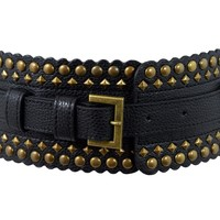 Rockabilly Love Metal Studded Wide Elastic Belt