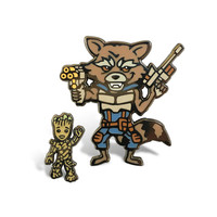 Guardians of the Galaxy Hard Enamel Pin 2 Set