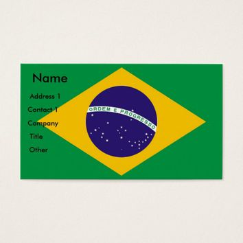 Business Card with Flag of Brazil