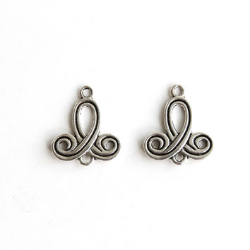 Connector - Knotting, Antique Silver