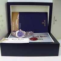 ROLEX - Ladies 18kt White Gold MASTERPIECE Blue Roman Dial - 80319 SANT BLANC