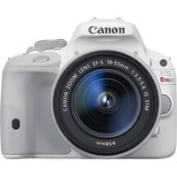 Canon - EOS Rebel SL1 DSLR Camera with EF-S 18-55mm f/3.5-5.6 IS Zoom Lens - White