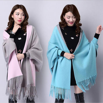 Women Cardigans cape 16 Colors 2016 Autumn Winter Coat High Quality Wool Knitted Sweater Top Fashion warming Lady Cloth