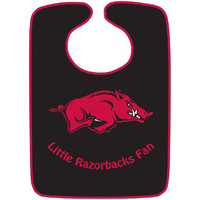 Arkansas Razorbacks Baby Bib - Two-Toned Snap