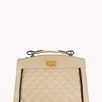 Iconic Quilted Faux Leather Satchel