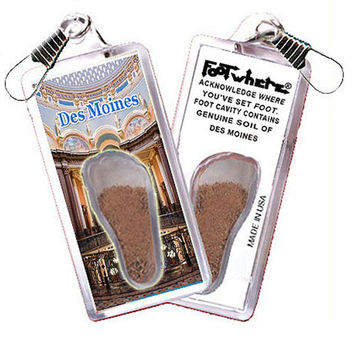 Des Moines FootWhere® Zipper-Pull. Made in USA