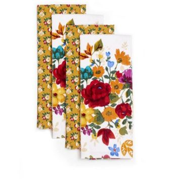Pioneer Woman Timeless Floral Kitchen Towels, Pack of 4 - Walmart.com