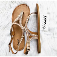 The Jessica Rose Gold Sandal