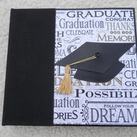 6x6 Black and Gold Graduation Scrapbook Album