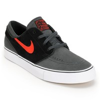 Nike SB Zoom Stefan Janoski Anthracite, University Red, & Black Shoe