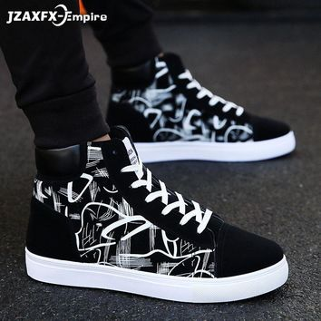SHOES BOOTS Men's Comfortable Quality High Top Shoes Men Casual Shoes Breathable