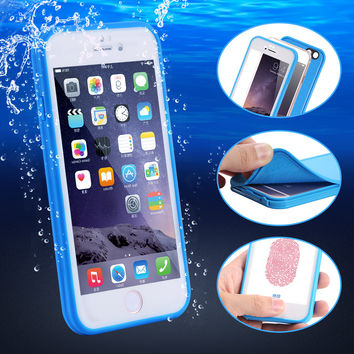 New Universal Waterproof Phone Case Cover For Apple Iphone 5 5S 6 6S 6Plus SE Water/Dirt/Shock Proof Swimming Dive Cases Pouch