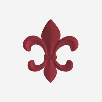 Fleur De Lis | French Inspired Decor | Cardinal Red Resin