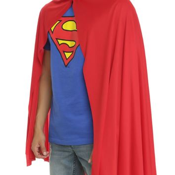 "Licensed cool ADULT LONG 36"" RED CAPE Superman Super Hero for Halloween Costume Cosplay NEW"