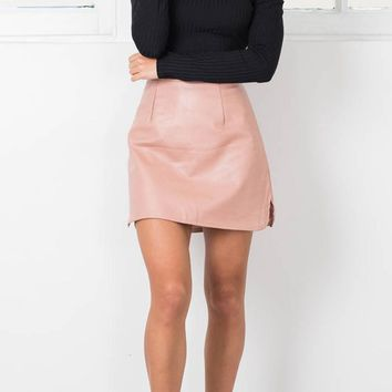 Stylish PU Leather Skirt
