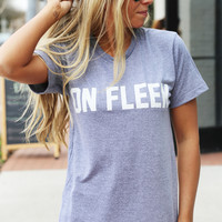 On Fleek Graphic Tee: Private Party {Gray}