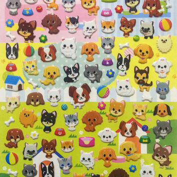 Cute Dog and Cat Stickers from Japan