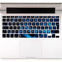 Blue Stellar Decal Keyboard Sticker