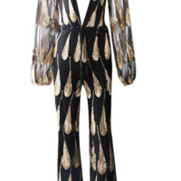 Esafli Black and Gold Jumpsuit
