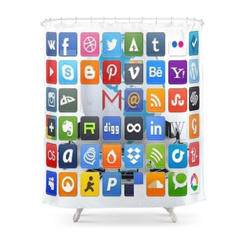 Society6 World,wide,web,best,icon Shower Curtain