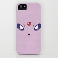 Espeon Minimalistic Pokemon Poster Eevee Evolution  iPhone & iPod Case by Jorden Tually Art
