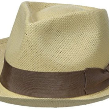 Brixton Men's Presley Fedora, Tan, Medium