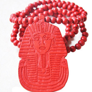 Wooden Pharaoh Necklace
