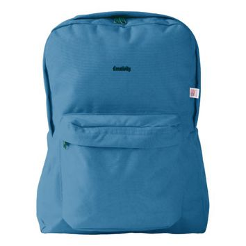 Custom American Apparel™ Backpack, Royal Blue American Apparel™ Backpack