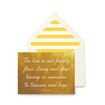 The Love In our Family Greeting Card, Single Folded Card or Boxed Set of 8